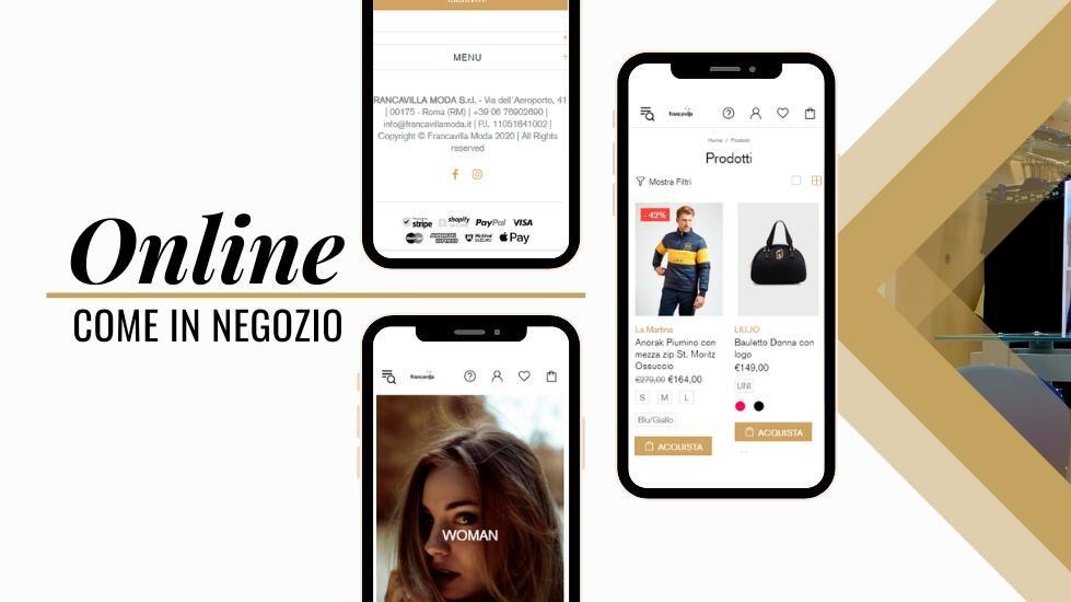 Il nuovo sito e nuovo shop online di Francavilla Moda